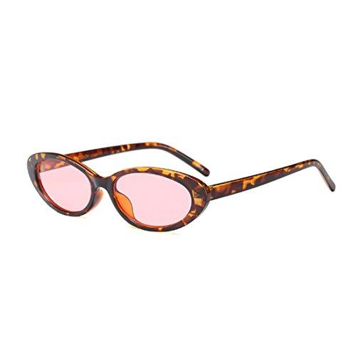 ovales de hombres hombres los las los gafas vendimia de mujeres de Huicai de Gafas sol Leopardo Rosa de pequeñas de los la marcos qxptI