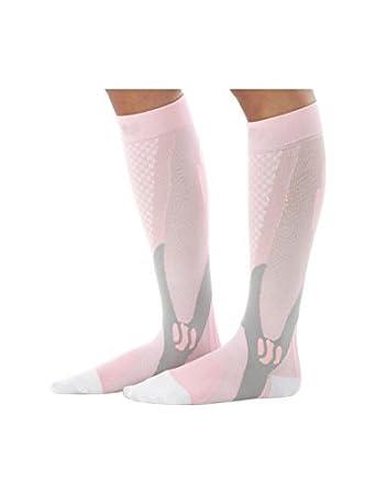 eDealMax Hombres Patrón Atlética rodilla calcetines Altos 15-17 Rosa 1 Pack elástico de la