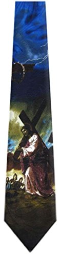 NeckTie Mens Novelty Religious Multi Color Christian wXq0XY1