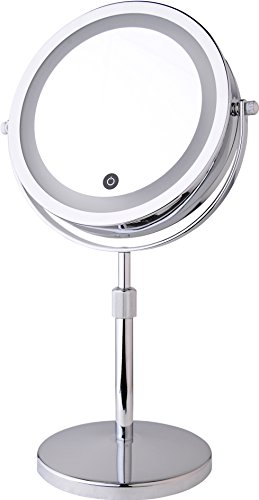 """7"""" Counter Top Telescopic Battery-Powered Lighted Vanity Mir"""