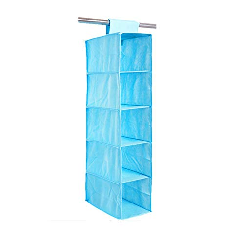 (MOPOLIS Multifunction Wall Hanging Storage Bags Organizer Toys Container Pocket | Color - Light Blue)