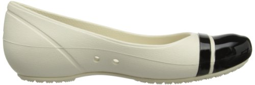 Beige nero stucco Toe donna Crocs da Cap Ballerine XHpq0waS