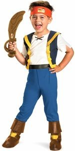 Jake's Soft Pirate Sword (Disney Jake And The Neverland Pirates Deluxe Costume with Sword 3T-4T Medium)