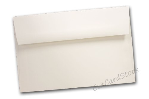 Classic Crest A1 Square Flap Envelopes - 250 Pack (Classic Natural White)