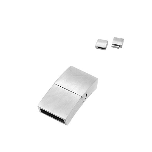 ARRICRAFT 5 Sets Stainless Steel Magnetic Clasps Rectangle Metal Clasps Closures for Watch Band Bracelet Making, 30x17x5mm ()