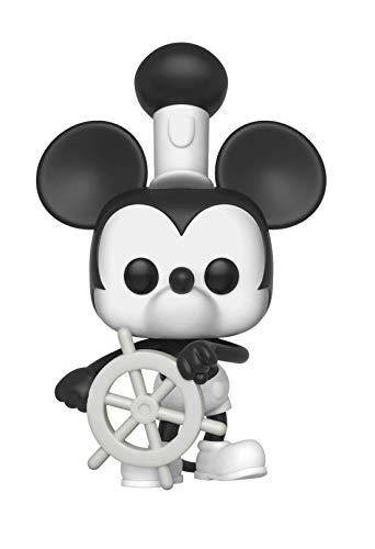 Funko Pop Disney: Mickey's 90Th - Steamboat Willie Collectible Figure, Multicolor]()