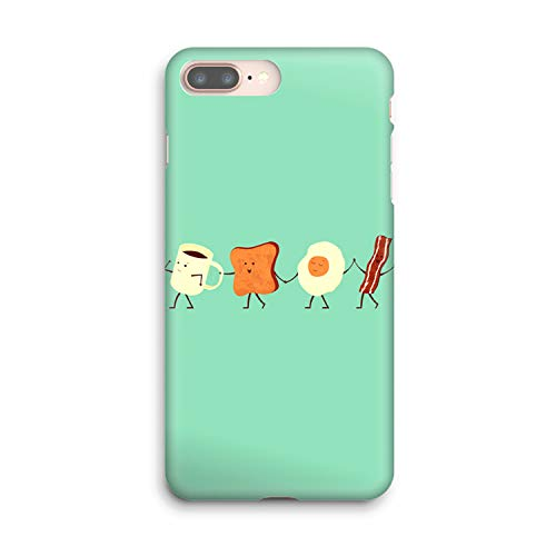 Compatible Let's All Go and Have Breakfast Soft Gel Case/Replacement for, if Applicable for iPhone 8 Plus