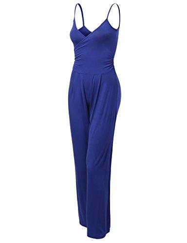 J.TOMSON Womens Long Pants Jumpsuit BLUE VIOLET MEDIUM