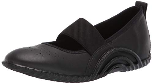 - ECCO Women's Women's Vibration 1.0 Mary Jane Flat, Black Yak, 36 M EU (5-5.5 US)