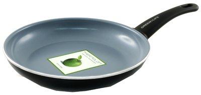 GreenPan Green Life Aluminum Soft Grip Open Fry Pan, 10 Inch