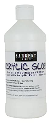 Sargent Art 16-Ounce Acrylic Gloss and Waterproof Varnish