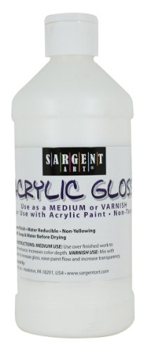Acrylic Paint Varnish - Sargent Art 22-8808 16-Ounce Acrylic Gloss and Varnish