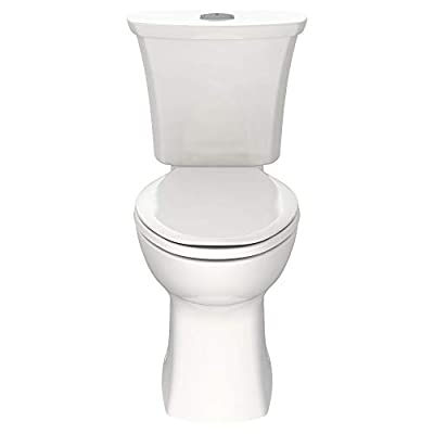 American Standard 204AA200.020 Edgemere Right Height Elongated Dual Flush Toilet, White