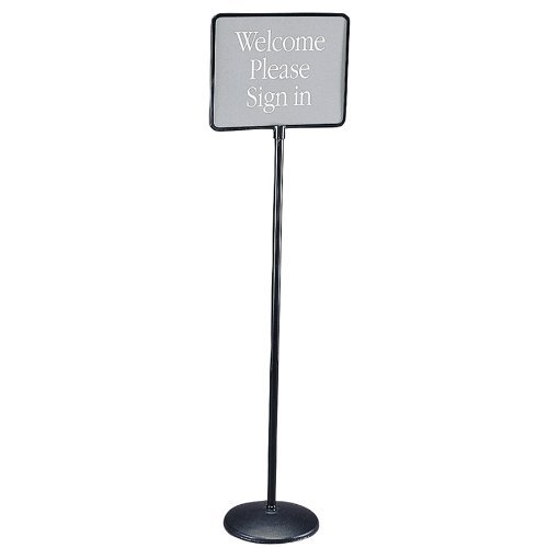 Quartet 3655 Sign(ware) Pedestal Sign, 1 Blank & 12 Preprinted 14w x 11h Signs, 52 High by (11h Sign)