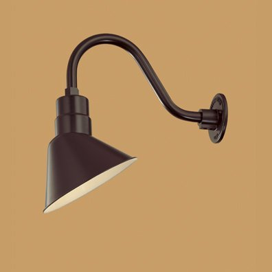 "Millennium Lighting RAS10-ABR-RGN15-ABR Angle Shade 10"" with Goose Neck 14-1/2"" in Architectural Bronze"
