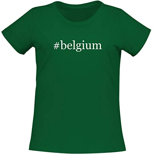 The Town Butler #Belgium - A Soft & Comfortable Women's Misses Cut T-Shirt, Green, Large