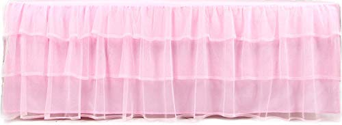 Tadpoles Triple Layer Tulle Bed Skirt, Pink, Twin