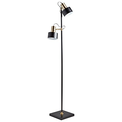 "Brass Floor Lamp Amazon: CHEAP Rivet Modern Metal Floor Lamp, 59.5""H, With Bulb"