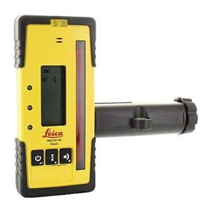 Leica RE 140 Classic Rugby Rod Eye 140 Classic Rotary Laser Receiver, Yellow