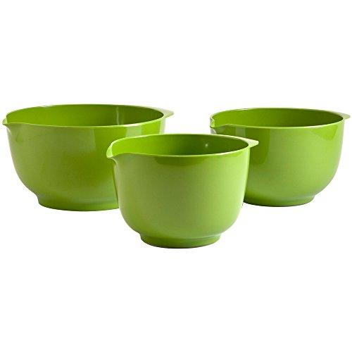 Hutzler Melamine Mixing Bowl Set: 2, 3 and 4 Liters, Lime Green (Green Melamine Bowl)