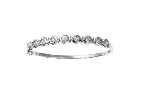 Bracelet jonc femme-Argent 925/1000-Oxyde de Zirconium