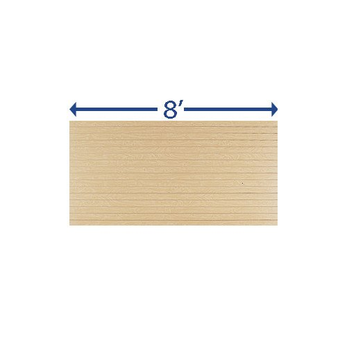 New Retails Maple Finished Horizontal Slatwall Panels - 4' X 8'