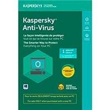 Kaspersky Antivirus 2019 Tech Bench 1-User English/French