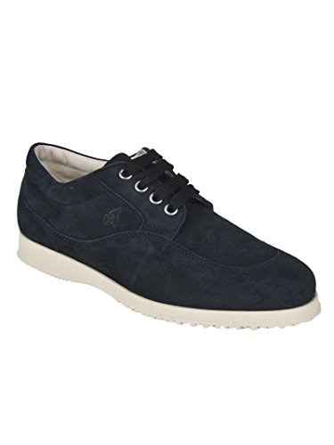Elegant Hogan Sneakers Suede Traditional Blu Donna B55wP