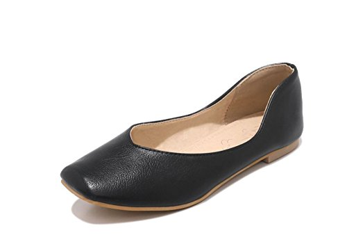 Popular Women's Shoes Flat Casual Shoes Lok Fu Shoes peas Shoes(Black 37/6 B(M) US Women)]()