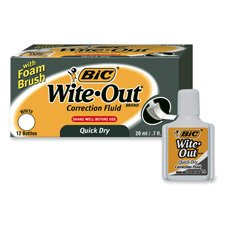 BICWOFQDP1WHI - BIC Wite-Out Correction Fluid