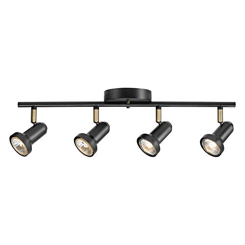 Globe Electric 59443 Melo 4 Track Lighting Bulbs Included, Dark Bronze, Brown