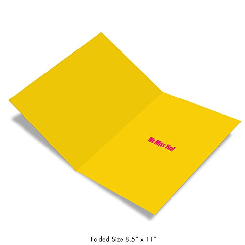 J2733MYG-US Jumbo Funny Miss You Greeting Card from All of Us: A Big Miss You from Us Featuring The Strength Of Friendship, with Envelope (Big Size: 8.5