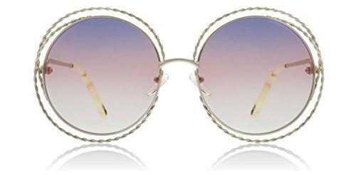 Chloe CE114ST 779 Gold/Rainbow Carlina Torsade Round Sunglasses Lens ()