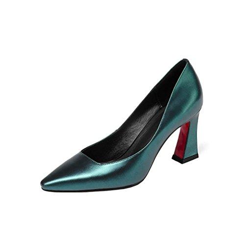Heel qvnnwx Women Shoes UK Pointed On 7 Vaneel Block Toe Court Blue 5CM 4 Slip qB0dZw5