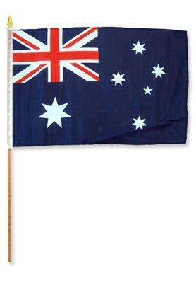 """Flags Importer STI-Australia Dozen 12x18"""" Stick Flags, Multi"""