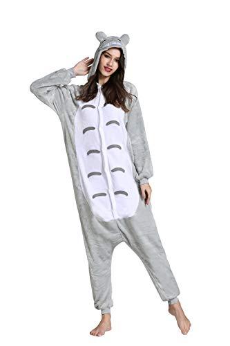 Yimidear® Unisex Cálido Pijamas para Adultos Cosplay Animales de Vestuario Ropa de dormir (S, Vecino Totoro)