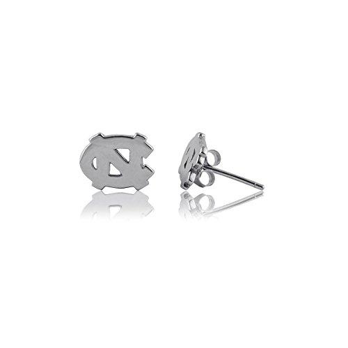 University of North Carolina Tar Heels UNC Sterling Silver Jewelry by Dayna Designs (Stud Earrings)
