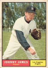 1961 Topps Regular (Baseball) Card# 457 Johnny James of the Los Angeles Angels ExMt Condition by Topps