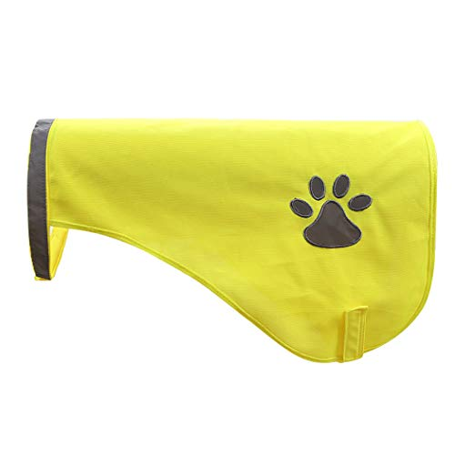 (A-SAFETY High Reflective Safety Vest for Dogs, Protect Your Best Friend High Visibility Dog Vest Harness Yellow,9.8inches)