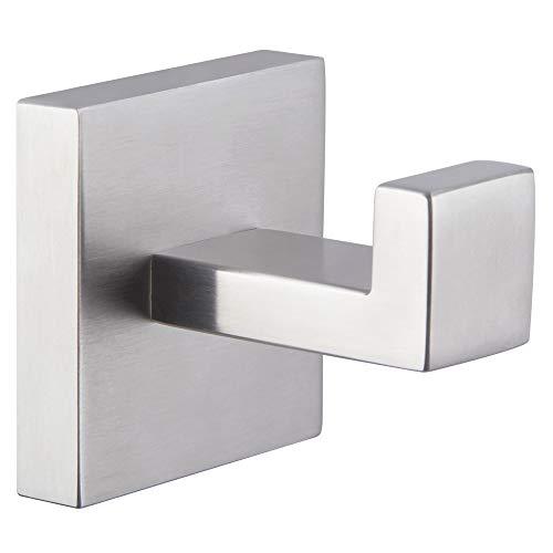 Bathroom Towel Hook Brushed Nickel, Angle Simple SUS304 Stainless Steel Robe Towel Holder, Square Towel Hanger, Modern…
