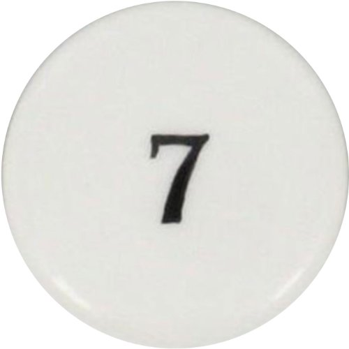 (HomArt Porcelain Round Box, Number)