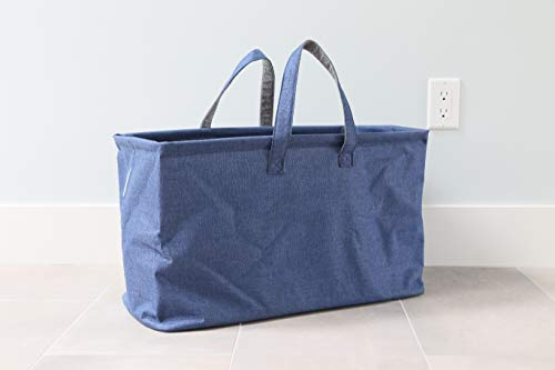 In This Space Twill Boat Storage and Laundry Tote (Navy Blue) (Boat Basket)