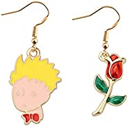 WSNANG The Little Prince Earrings The Little Prince and His Planet Inspired Gift for Book Lovers