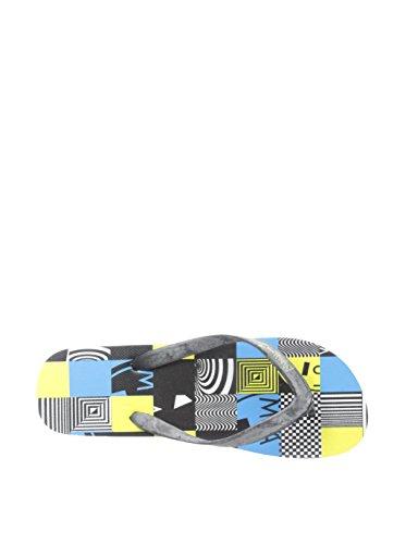 Maui & Sons Menns Grafisk Glide Flip-flops Svart / Blå