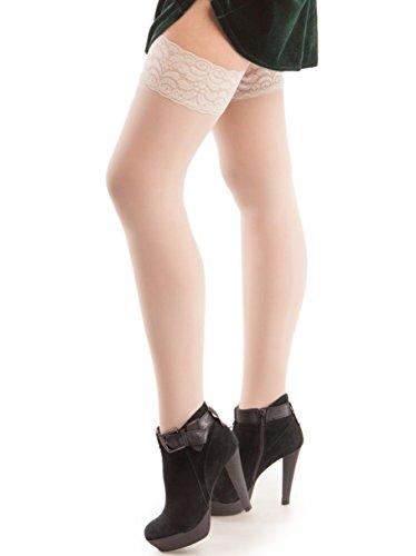GABRIALLA Sheer Graduated Compression Thigh High Stockings (20-22 mmHg) H-40