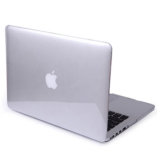 HDE Clear MacBook Pro (Retina) 13 inch Case - Protective See Thru Cover Transparent Plastic Hard Shell for Apple Mac Pro 13