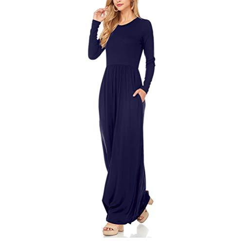 Elegantes Vestidos Casual Playa Falda Grandes Tallas Zz Mujer Oscuro Rojeam azul Fiesta Largos Vestidos BAwIR