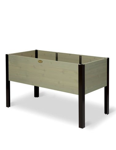 Elevated Cedar Planter Box, 2ft x 4ft Green Stain by Gardener's Supply Company