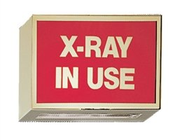 Illuminated Darkroom Sign - X-Ray In Use by Colortrieve