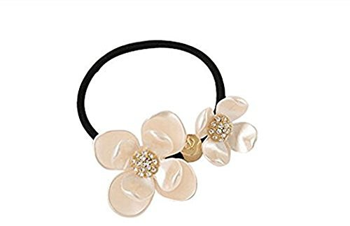 Fashion Punk Flower Hair Bow Hair Tie Hair Band Ponytail Holders erioctry